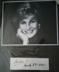 Lady Diana Signed Display