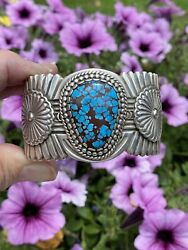 Egyptian Turquoise Cuff Cuff, By Navajo Artist Arnold Blackgoat, Native American