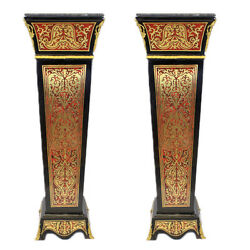 Boulle - France Louis Xiv Boulle Style Pillars / Stands Mb70
