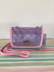 More Than Magic Clear Acrylic Crossbody Girls Pink Purple Purse. FREE SHIP $10.35