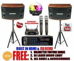 Youtube Karaoke System Professional 1500w Built In Optical Hdmi And Recording