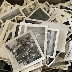 100 RANDOM Old Photos Lot Vintage BLACK amp; WHITE Photographs Snapshots antique
