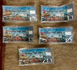 Lot Of 5 Opening Day 1995 Coca-cola 7-11 Holographic Ticket Pin Colorado Rockies