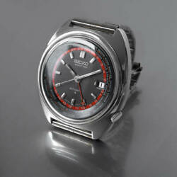 Seiko World Time 6117-6400 Vintage Gmt 3rd Stainless Steel Automatic Mens Watch