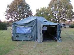 Us Military Surplus 18x18 Mgpts Tent Hunting Camp Army Truck Trailer---no Floor