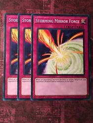 3x Storming Mirror Force SDCL EN038 Common 1st Edition NM
