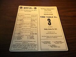 October 1975 Atsf Santa Fe Los Northern Division Employee Timetable 3
