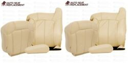 2000 To 2002 Chevy Tahoe Suburban Front Leather Seat Cover Package Light Tan
