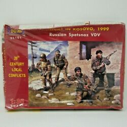 Icm 1/35 Scale Conflict In Kosovo 1999 Russian Spetsnaz Vdv Model Kit 35161 Nrfb