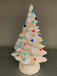 Small 9 Christmas Tree With Pinlightsceramic Bisque Ready To Paint Unpainted