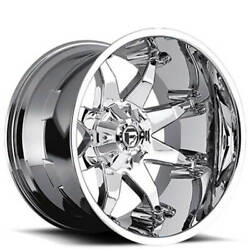 20x12 Fuel Wheels D508 Octane Chrome Off Road Rimss45