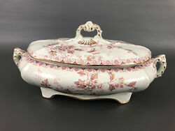 Victorian Dunn Bennett And Co. Imperial Semi-china Covered Serving Dish C.1875-85