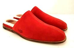 New In Box Ugg Mens Chateau Slip On Samba Red Slippers Size 12 Style 1106494