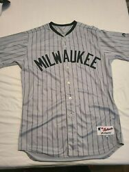 Game Worn Used Jersey Pants Milwaukee Brewers Bears Brent Suter Negro League