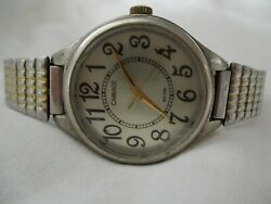 Carriage By Timex Classy Silver Toned Wristwatch W/ Metal Expansion Band