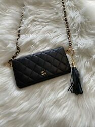 Authentic Chanel Matelasse Wallet with chain $425.00