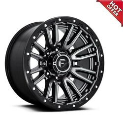 22x10 Fuel Wheels D680 Rebel Anthracite Center 8-lug Off Road Rimss45