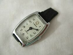 Timex Watch Silver Toned Rectangular Face Sparkling Elegant Stylish FOR REPAIR $89.00