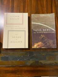 Isaiah Berlin - Philosophy Two Book Lot   Very Good Condition Romanticism