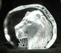 Siegfried And Roy At The Mirage Glass Collectible