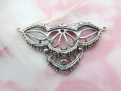 Antique Silver Art Nouveau Connector Filigree Stamping Jewelry Bb-169