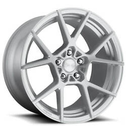 4ea 18 Rotiform Wheels R138 Kps Silver With Brushed Face Rims S43