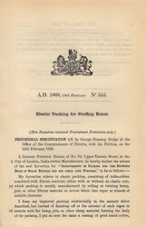Elastic Packing For Stuffing Boxes. Patent No. 555. Improvements In Packing For