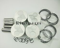New 4 Sets Kubota Engine V2203 Std Piston Set Pin And Clip With Rings