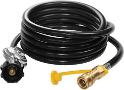 Dozyant 12 Feet Propane Hose With Regulator - 3 8 Inch Quick Connect Disconnect