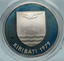 1979 Kiribati Independence From Uk Vintage Old Proof Silver 5 Dollar Coin I86932