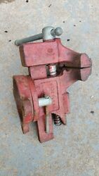 Vintage Sears 3 1/2 Bench Vise Swivels 506-51770 Made In Usa Free Shipping
