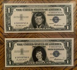 John F Kennedy And Jacqueline Kennedy - 1957 1 Silver Certificate Uncirculated 2