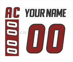 Lake Erie Monsters Customized Number Kit For 2011-2013 White Jersey