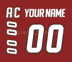 Lake Erie Monsters Customized Number Kit For 2011-2013 Red Jersey
