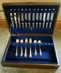 Silver Plumes By Towle Sterling Silver Flatware Set Service For 12 47 Pieces
