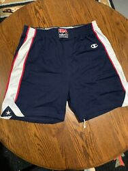 Game Issued Olympic 2000 Usa Basketball Authentic Shorts Sz 44 +2+2 Dream Team