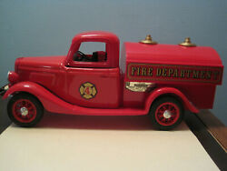 Jim Beam Red Fire Pumper Truck / Box / Papers / Decals / Empty