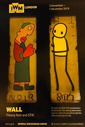 Stik Noir Berlin Wall Large Authentic Print Signed By Both Artists