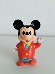 Mickey Mouse Wind-up Toys Walking 9.5 Cm Masudaya 1970s Vintage From Japan Used