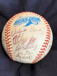1998 Rays Inaugural Team Signed Al Ball 31 Sigs Mcgriff Boggs Pinella Hernandez