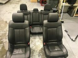 2011-2014 Ford F150 Complete Set Of Black Leather Platinum Edition Seats