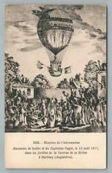 Sadler And Capt. Paget In Hot Air Balloon 1811 Hackney England Aviation Pc 1910s