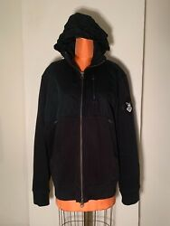 Vintage Polo Zip Up Jacket With Foldable Hoodie, Sz L