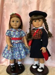 Retired Htf American Girl Doll Lot- Includes Both Molly And Emily Dolls