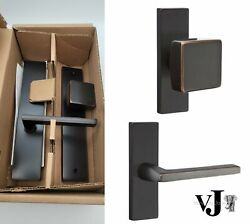 Emtek Dummy 10 In Mortise Set With Hercules Lever And Square Knob