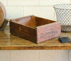 Vintage Industrial Baxter Packing Co Stockton Ca Wood Advertising Crate Box