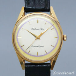 Citizen Ace Ref.a15701cgp 20 Micron Gold Leather Manual 1961menand039s Watch[b1027]