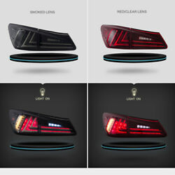 Led Red Tail Lights Lens Rear Lamp Pair Fit For Lexus Is250 Is350 Is F 2006-2012