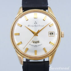Orient Weekly Auto Orient Day-date Gold Case Ss Automatic 1960 Men Watch[b1027]