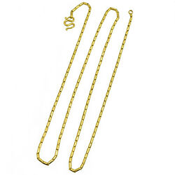 Vintage 22k Yellow Gold Barrel Link Chain 28 Inches Long, 30.20g, Men's/ Woman's